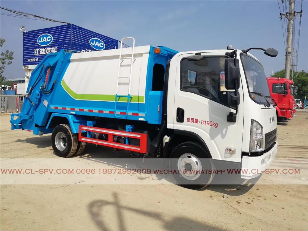 Seitenansicht FAC compactor Müllwagen
