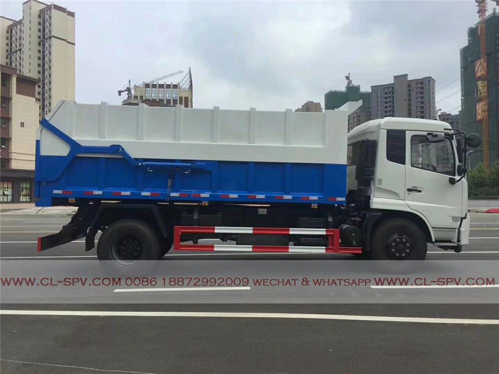 12000 liters docking garbage truck