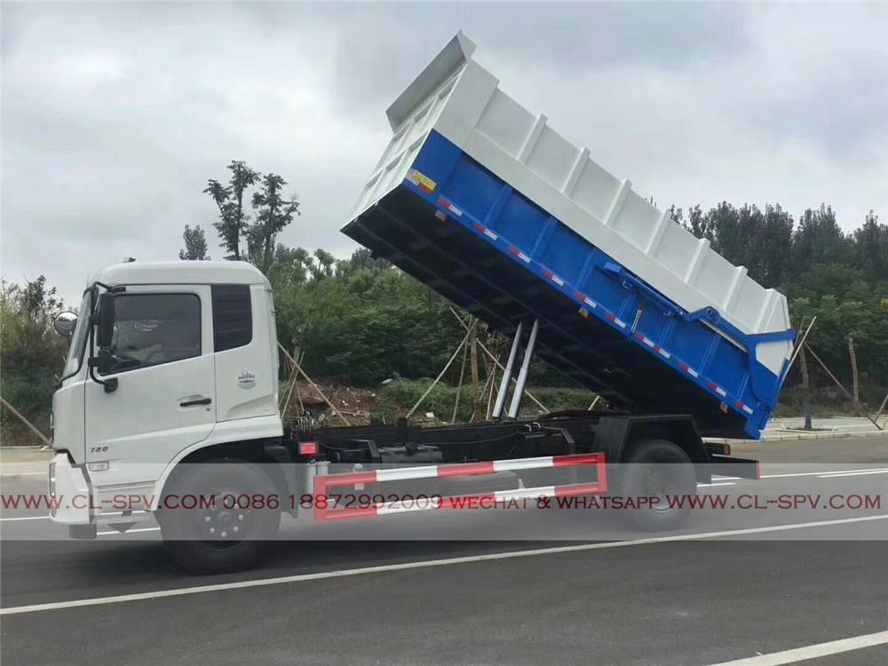 clw 12cbm docking garbage truck