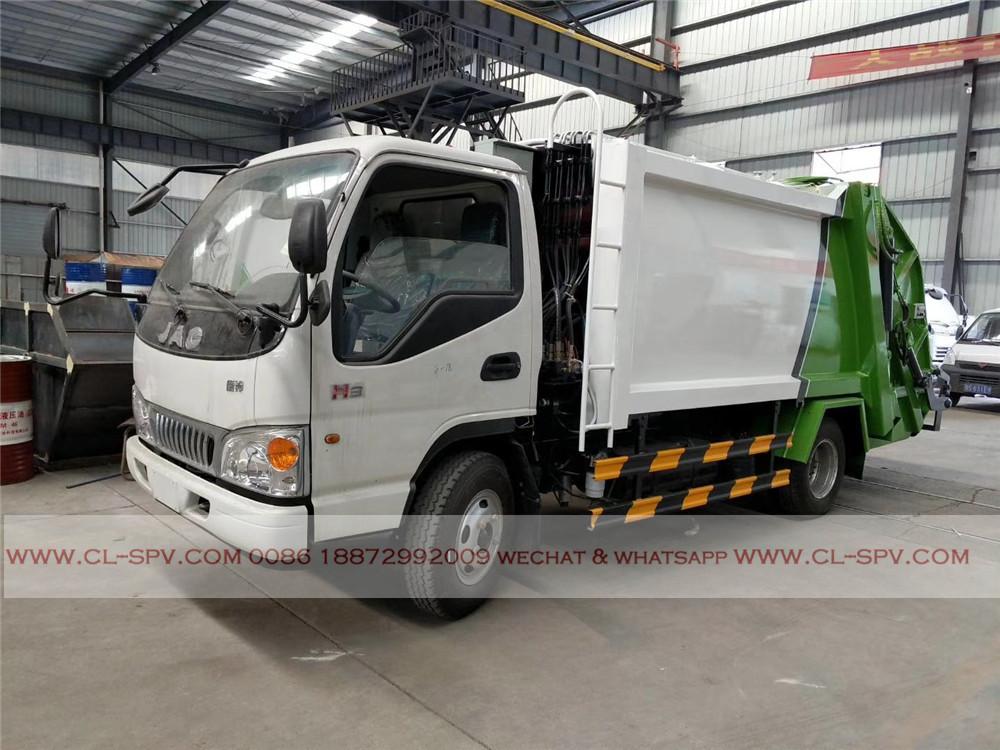 JAC 5000 litros caminhão compactador de lixo