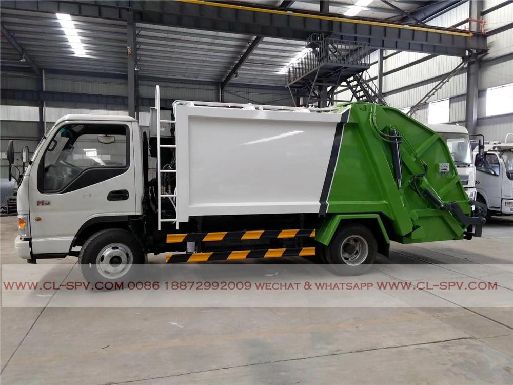 5000 liters compactor garbage truck