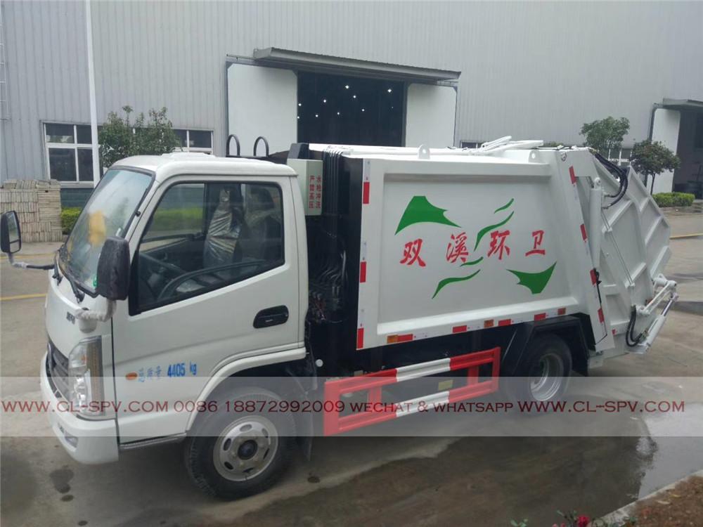 kaima 5000 los litros camión de la basura compactador