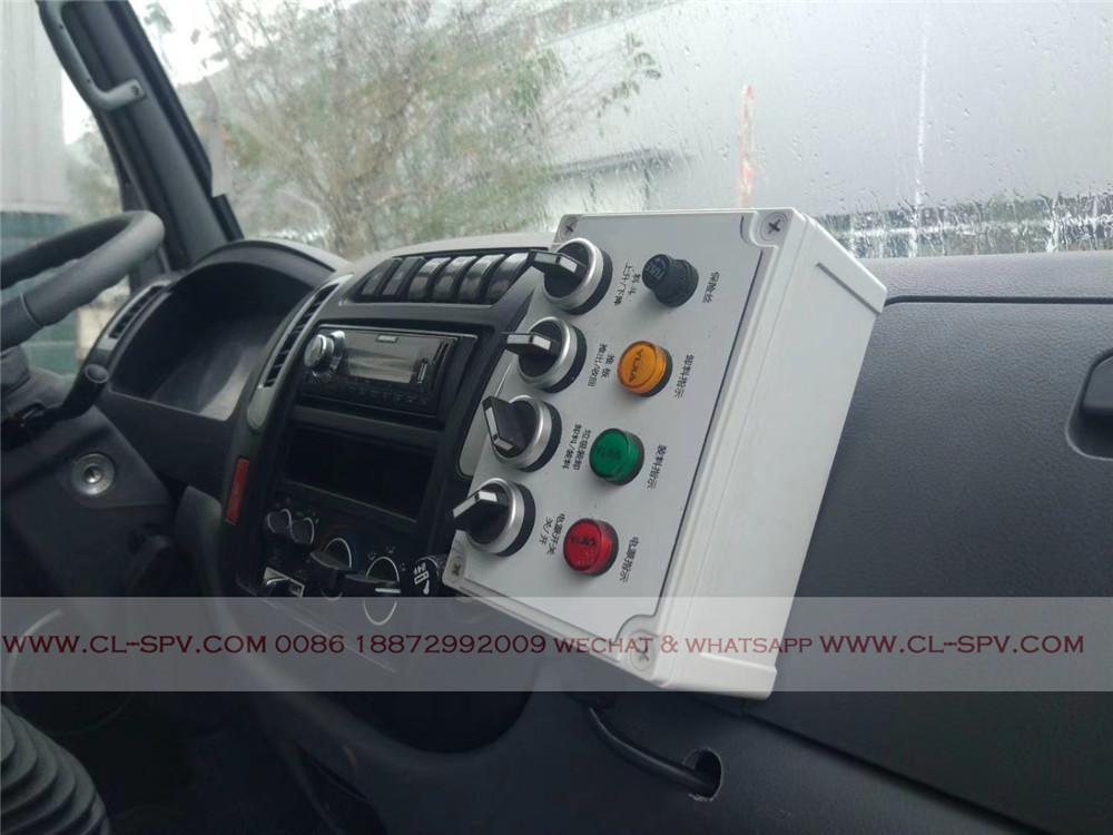 sistema de control compactador camión de la basura