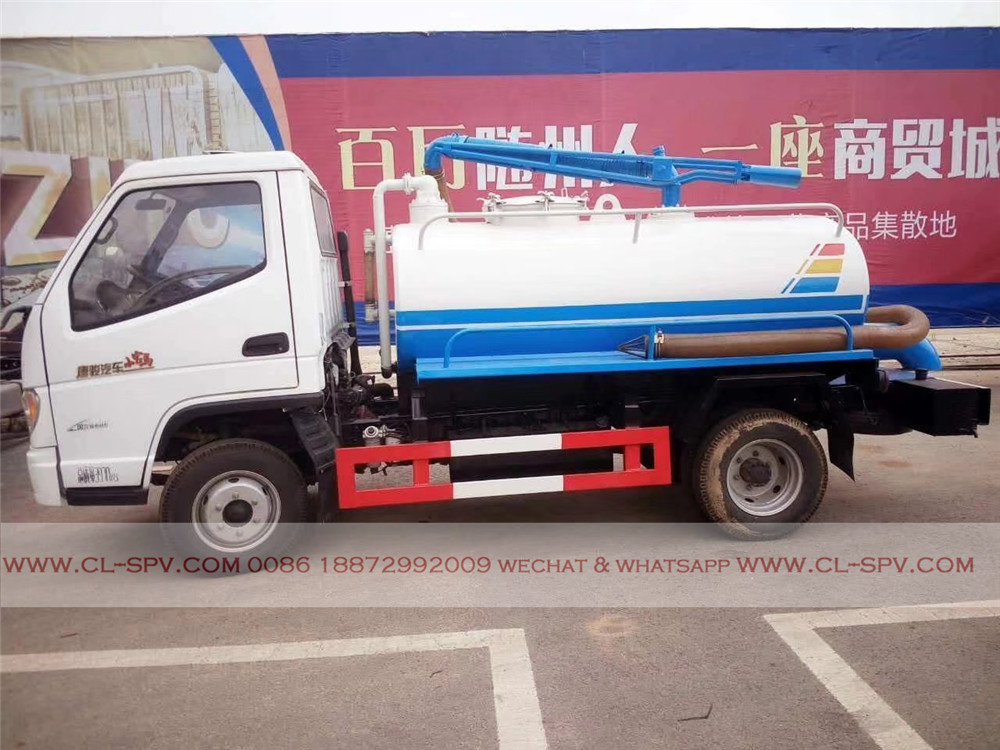 China 3000 liters fecal suction truck