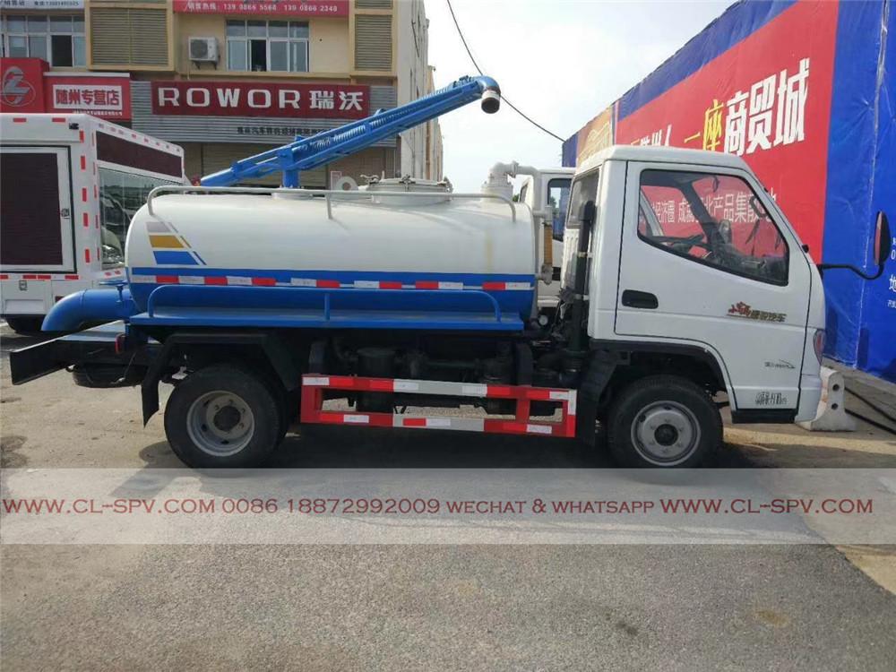 T-الملك 3000 liters Vacuum fecal tank truck