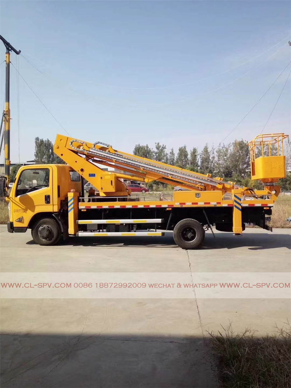 JMC Straight arm aerial working platform truck from china