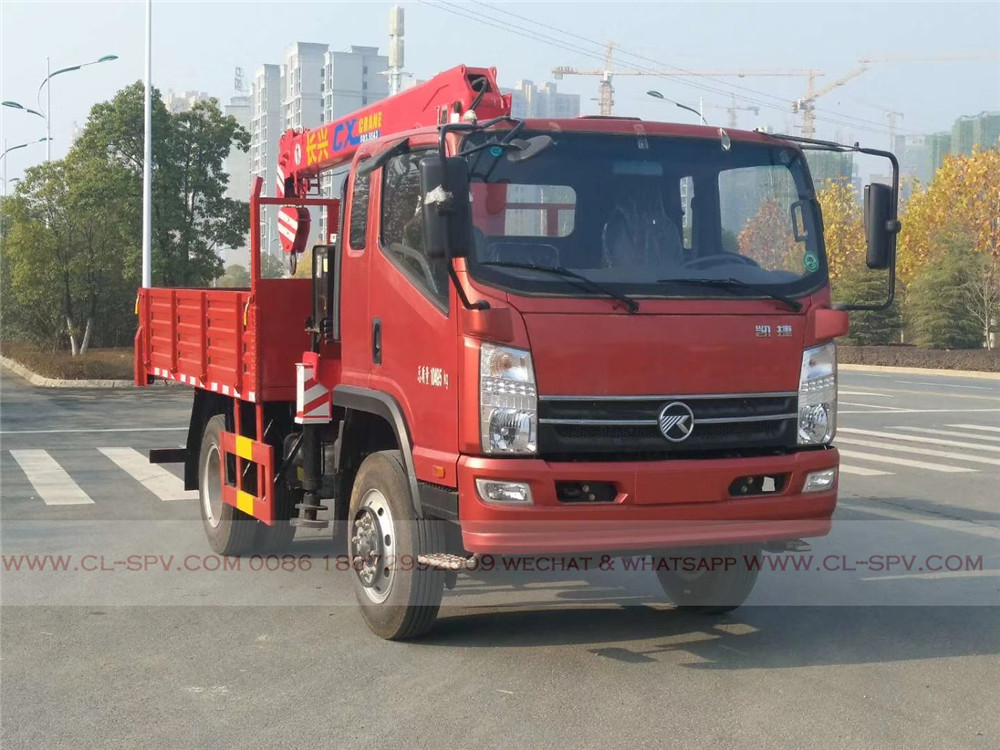 Kaima 4x4 all wheel drive truck with crane