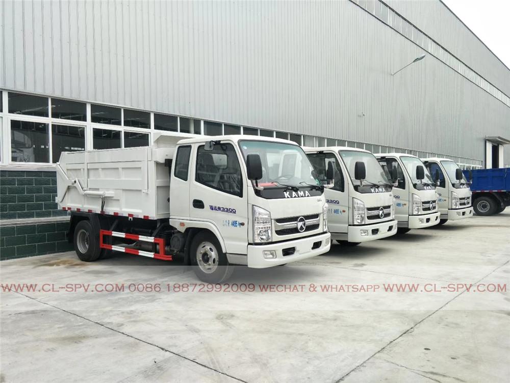 Kaima 5 cbm docking garbage truck