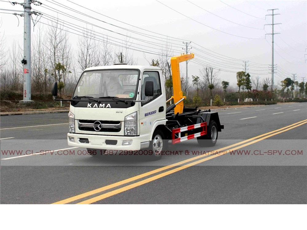 China Kaima hook arm garbage truck