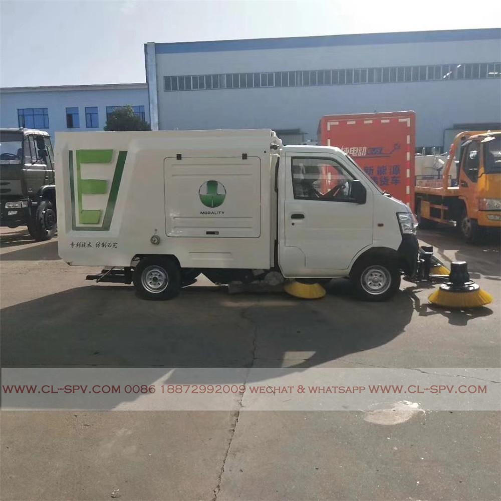 China mini-estrada elétrica caminhão varredor