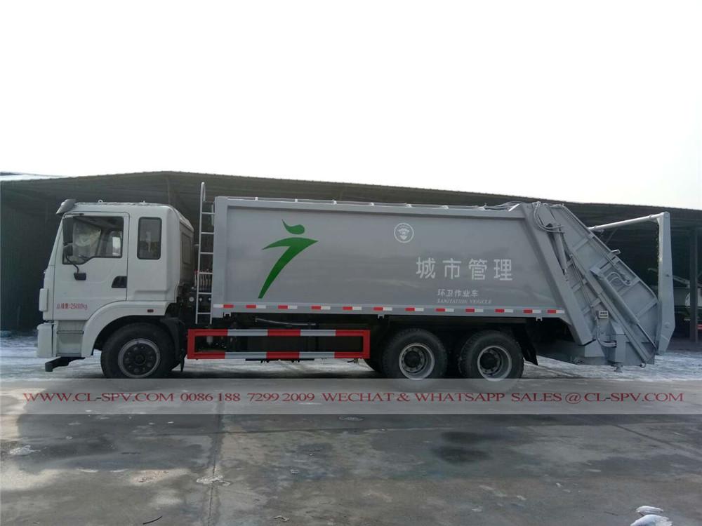 20 متر مكعب شاحنة القمامة الضاغطة
