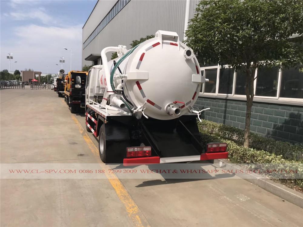 Dongfeng 5000 litros caminhão de sucção de esgoto