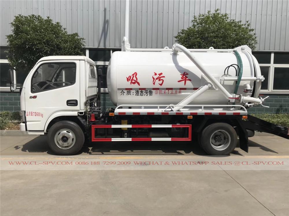 5000 litros caminhão de sucção de esgoto