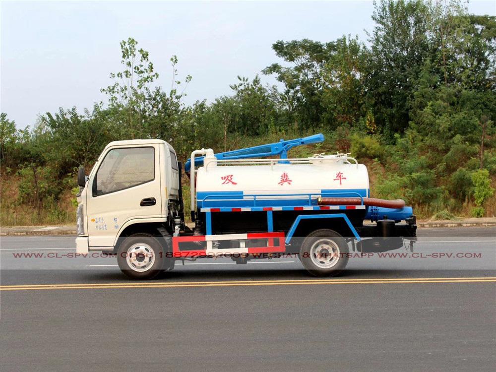 China 2000 Liter fäkale Saugwagen