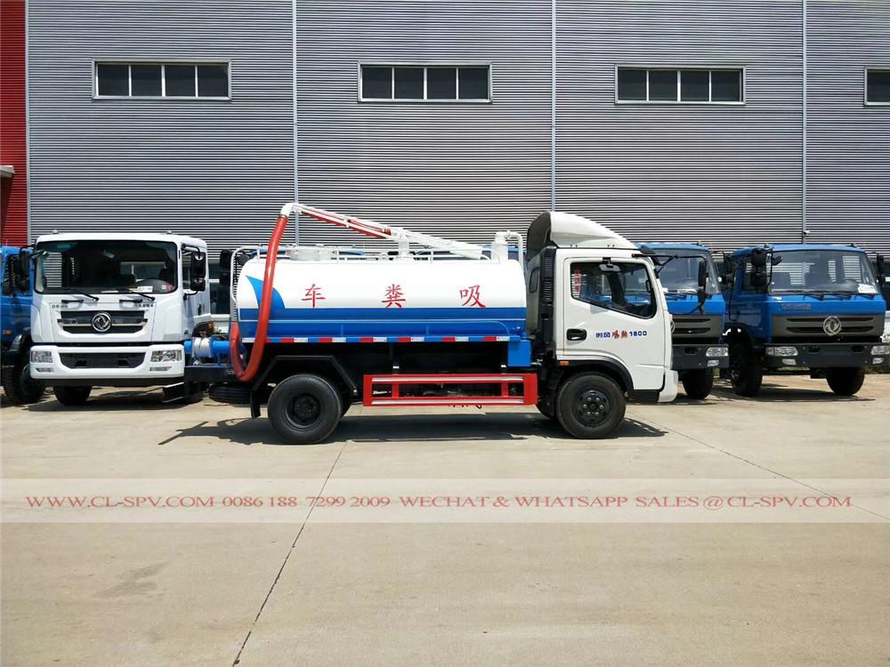 vide Shifeng camion d'aspiration fécale