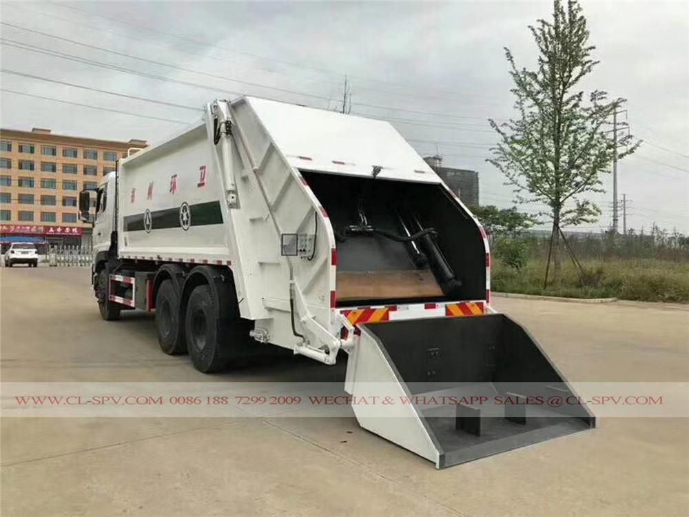 دونغفنغ 22 متر مكعب شاحنة ضغط القمامة
