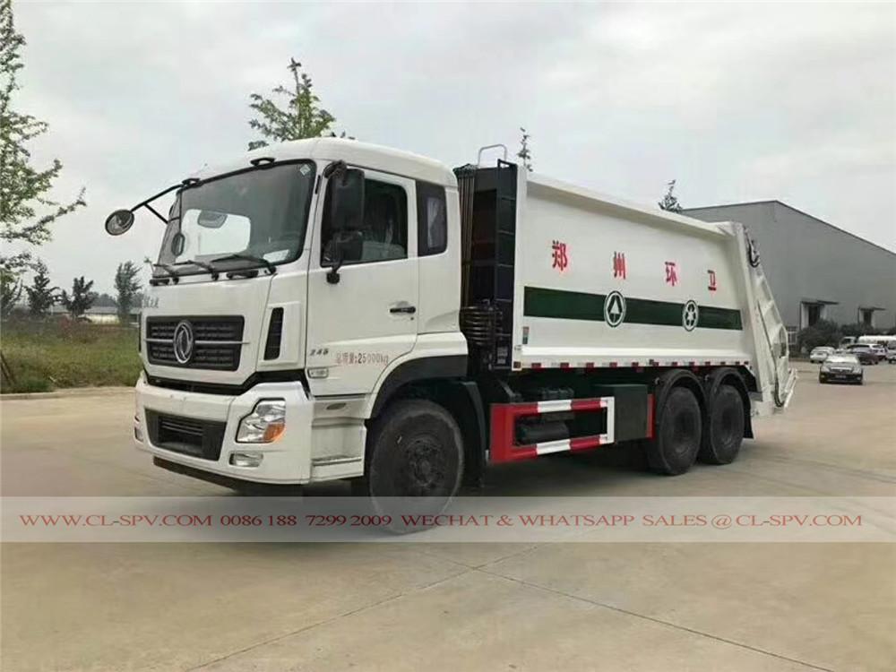 دونغفنغ 20 متر مكعب شاحنة ضغط القمامة
