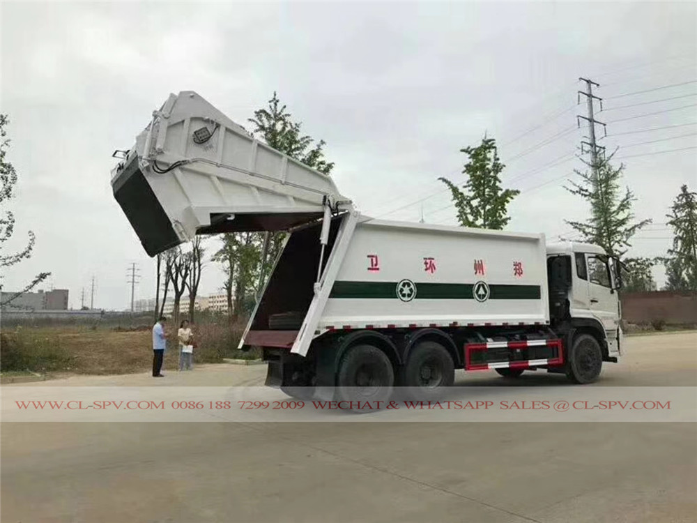 Dongfeng 18 cbm compression garbage truck