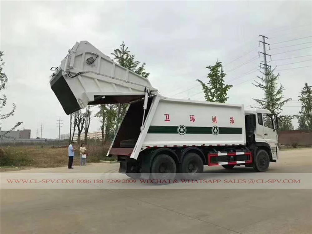 دونغفنغ 18 متر مكعب شاحنة ضغط القمامة