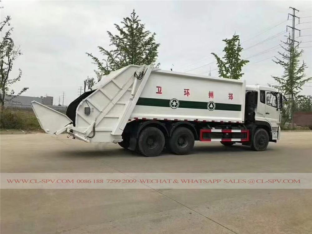 دونغفنغ 16 متر مكعب شاحنة ضغط القمامة