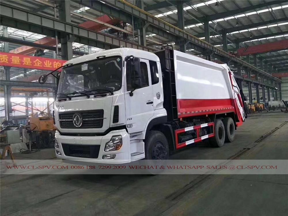 مصنع دونغ فنغ للضغط شاحنة لجمع القمامة