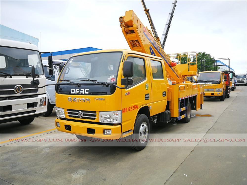 Dongfeng 4 des portes 3 sections 16 mètres de camion nacelle automotrice