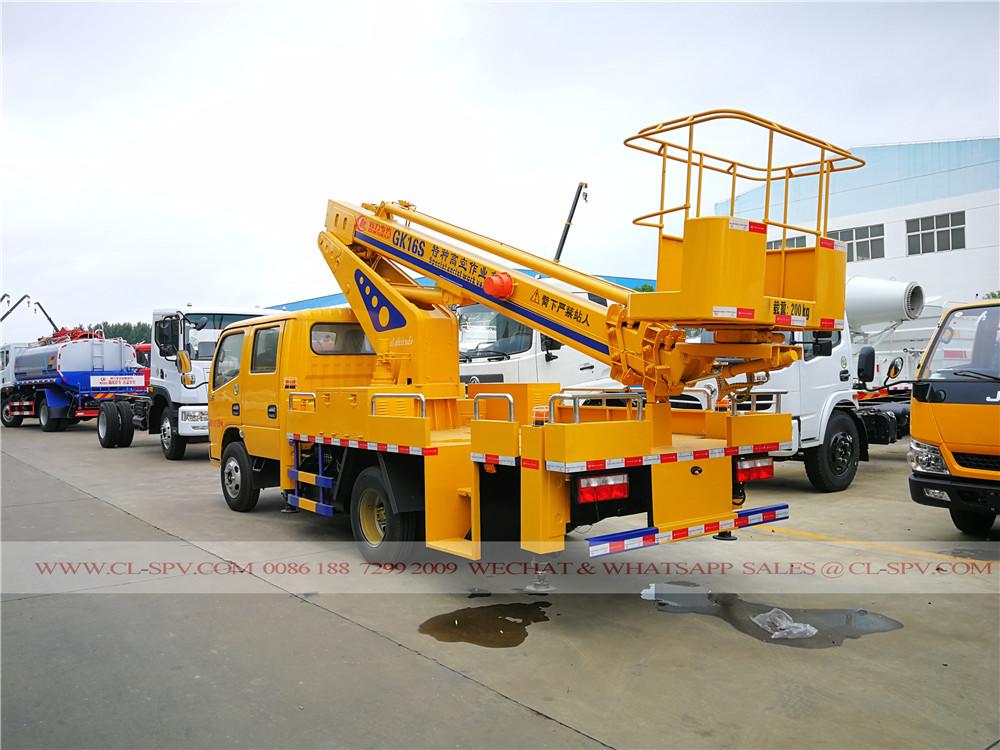 دونغفنغ 3 الأقسام 16 متر شاحنة رافعة السلة التلسكوبية