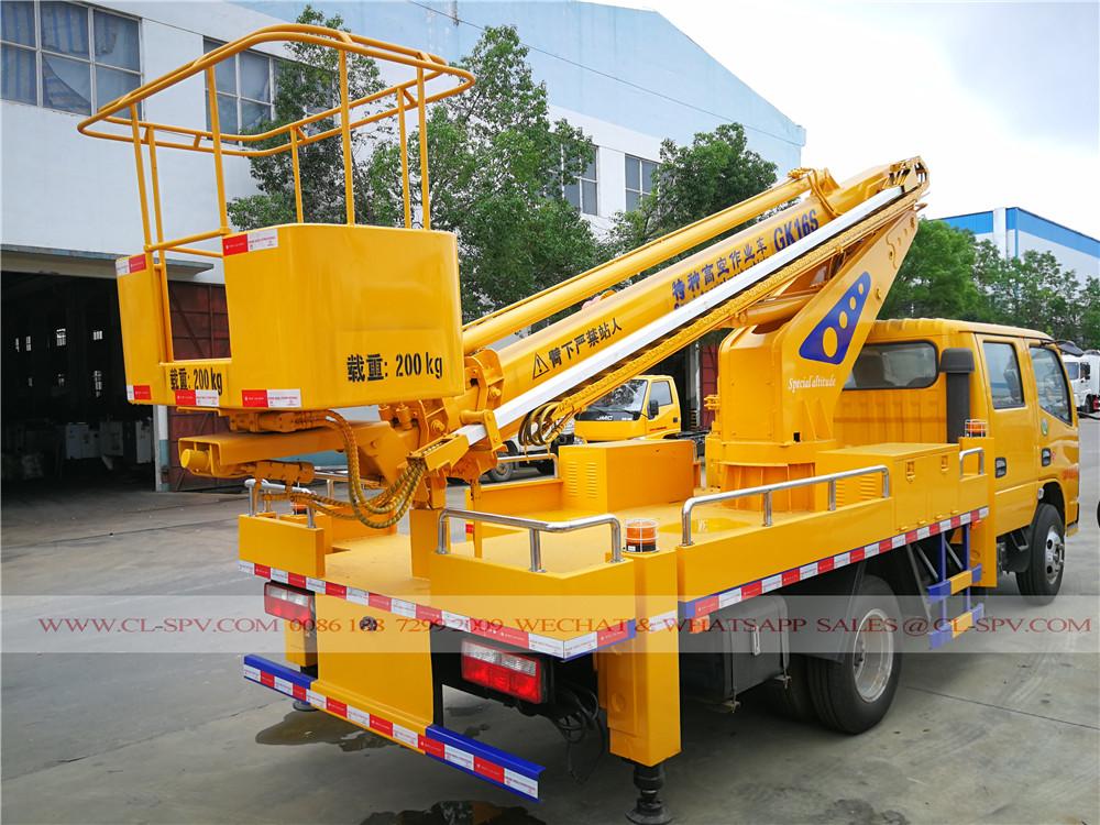 Dongfeng 4 doors 16 meters aerial platform truck
