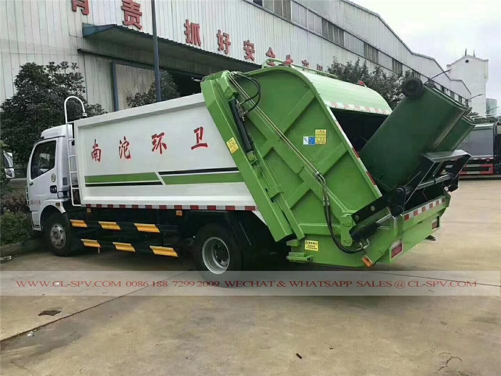 دونغفنغ D7 شاحنة القمامة الضاغطة