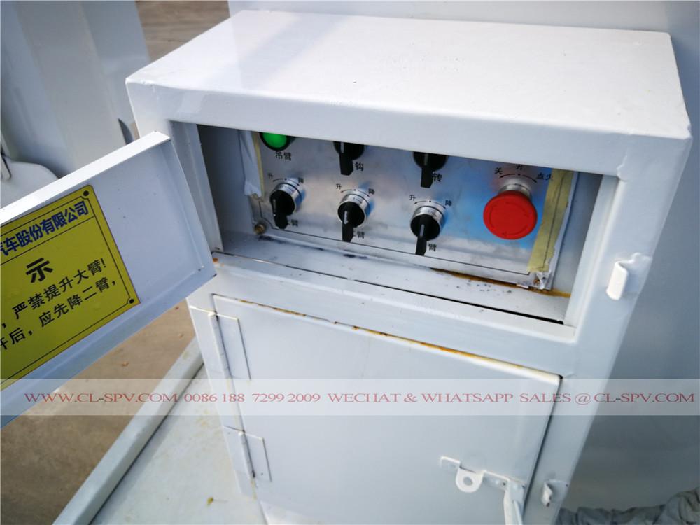 control box on aerial platform truck