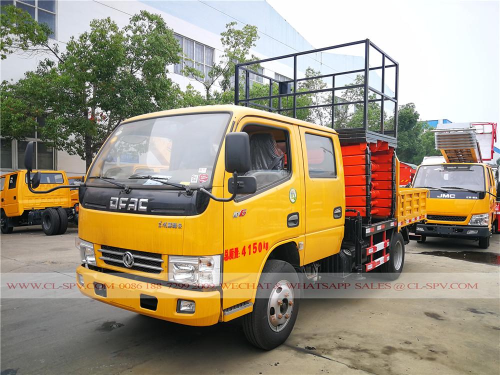 Dongfeng D6 élévatrice à ciseaux de véhicule à plate-forme élévatrice