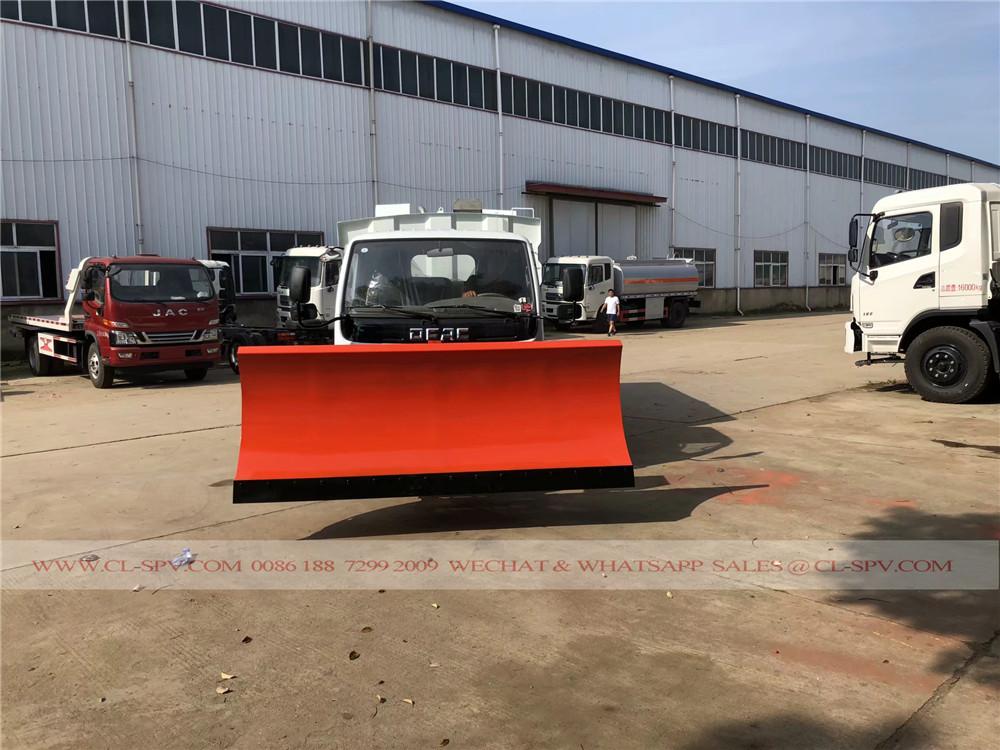 شاحنة كاسحة الطريق دونغفنغ مع الثلج المحراث 3M ل