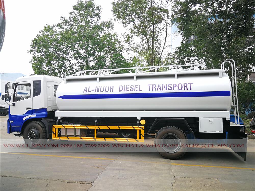 Dongfeng Tianjin 10000 litros tanque de combustível