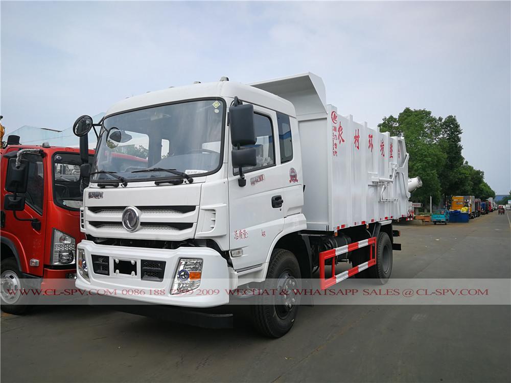 Dongfeng yuhu docking garbage truck