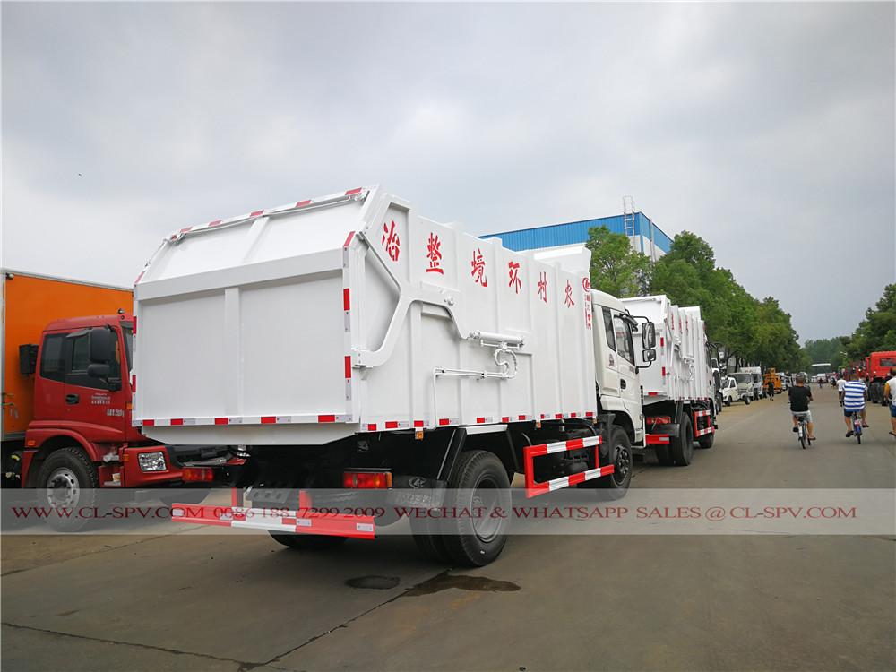 2 unités de véhicules de transport des ordures dongfeng