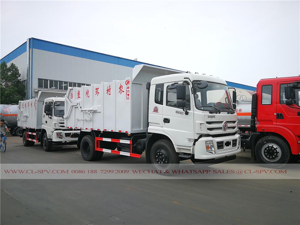 lourds dongfeng véhicule de transport de camion à ordures
