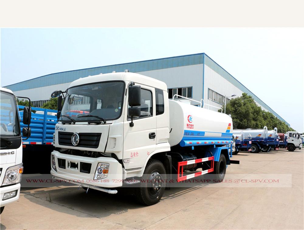 Dongfeng zhuandi 12000 litres camion d'eau