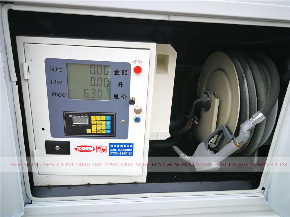 fuel refueling machine on fuel tanker