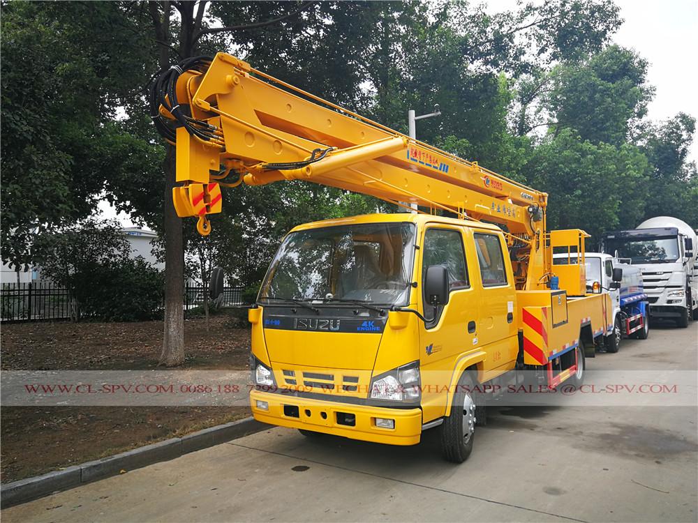 Isuzu 18 mètres 2 sections de camion nacelle automotrice