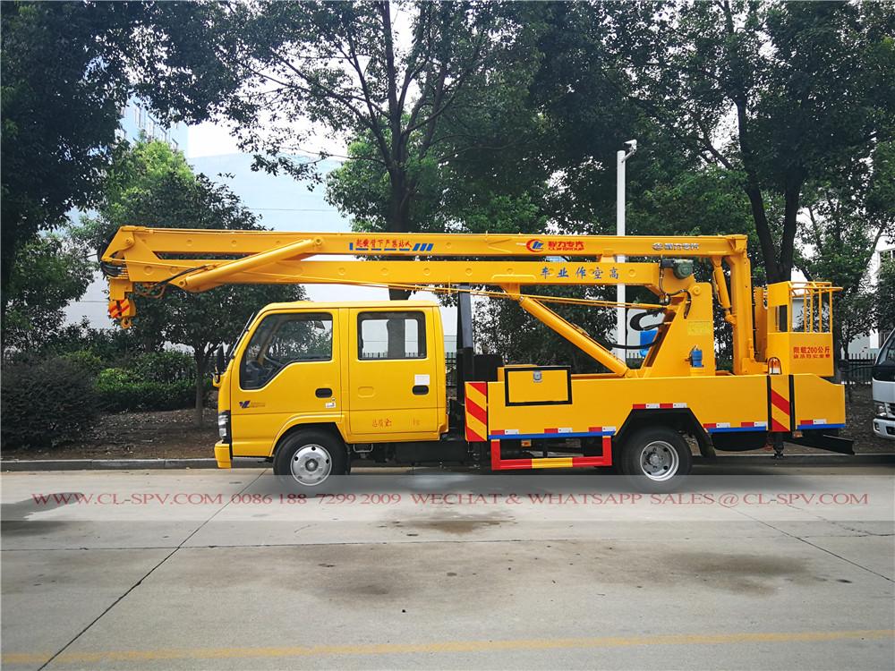 Isuzu 18 metros caminhão plataforma aérea