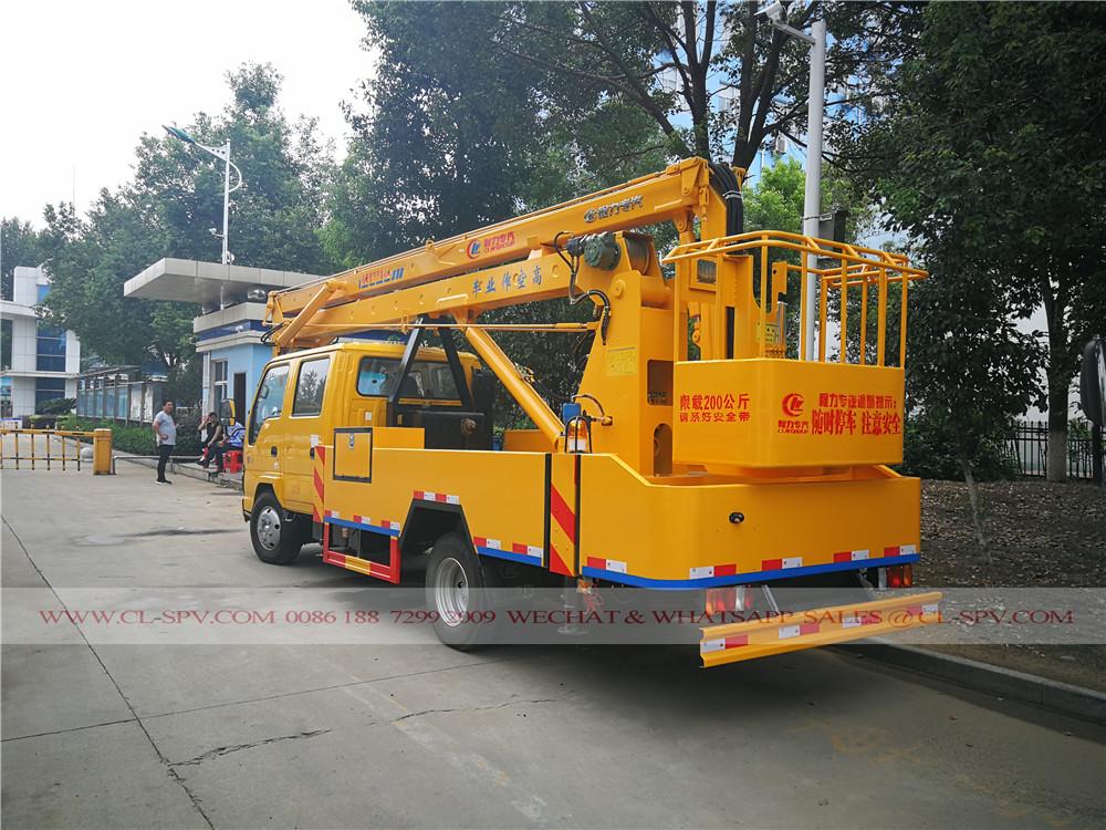 Isuzu aerial platform truck