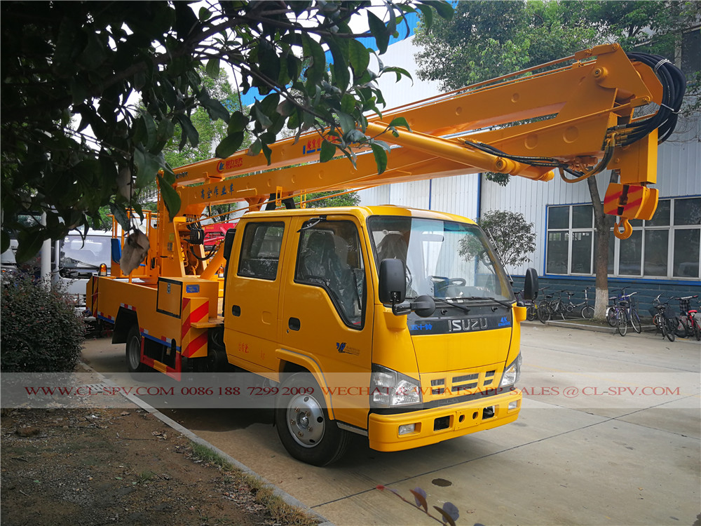 China Isuzu caminhão plataforma aérea