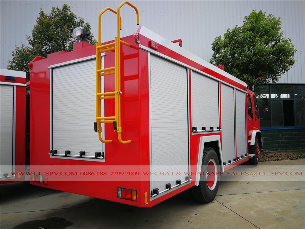 الرؤية الخلفية ايسوزو تقارير المعاملات المالية مكافحة الحرائق شاحنة