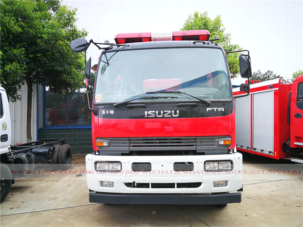 Vorderansicht von Isuzu FTR Wasser Feuerwehr LKW