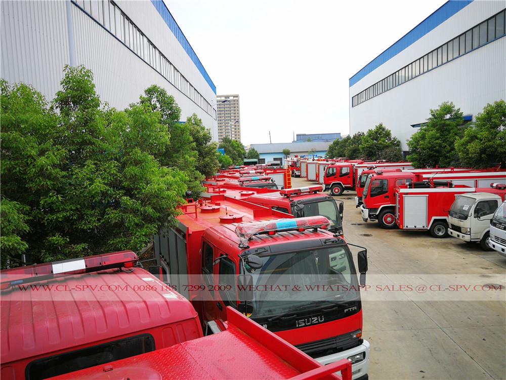 80 وحدات ايسوزو تقارير المعاملات المالية الشاحنات مكافحة الحرائق المياه
