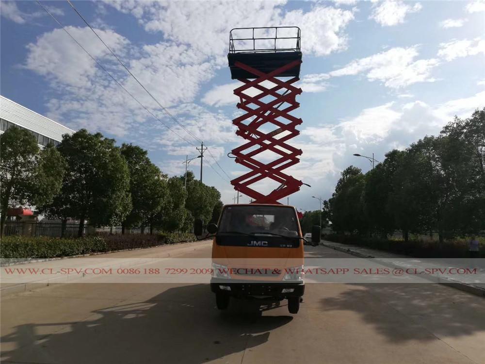 plataforma de trabalho aéreo com sede em caminhão JMC