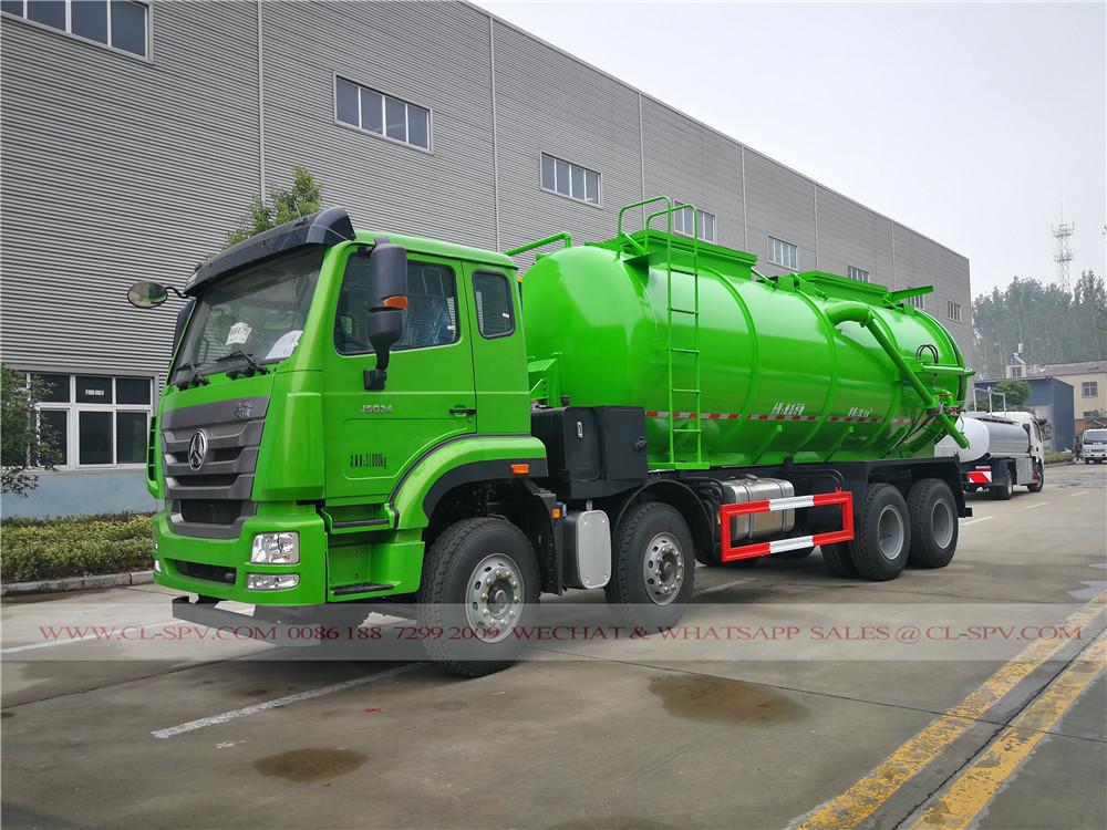 ساينو تراك haohan 20 متر مكعب شاحنة شفط الرواسب