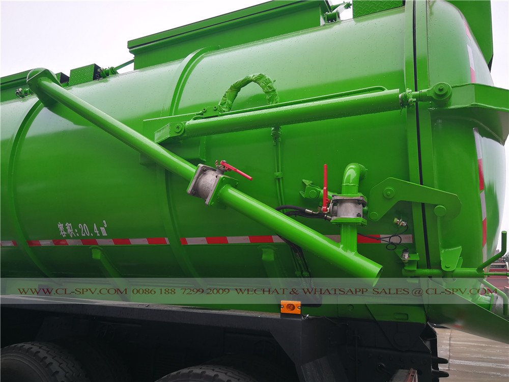 pipe and hydraulic system on sludge suction truck