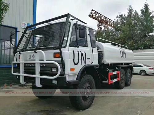 6x6 AWD camión cisterna militar