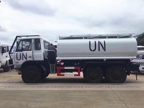دونغفنغ 6X6 عوض شاحنة لنقل المياه العسكري للأمم المتحدة